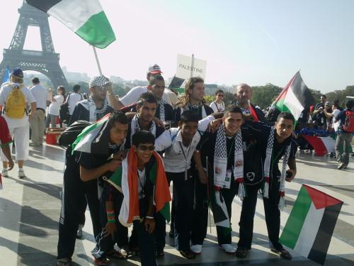 Délégation palestinienne a la Homeless World Cup