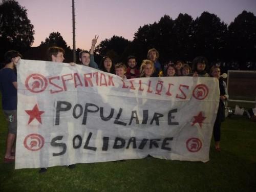 Des supporters nombreux pour pousser le Spartak vers sa première victoire