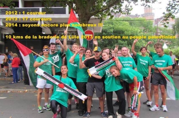 10 km Palestine braderie de lille