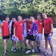 Les athlètes après la course !